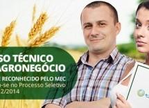 Inscrições abertas para Técnico em Agronegócio da Rede e-Tec Brasil no SENAR