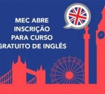 MEC abre inscrição para curso gratuito de Inglês