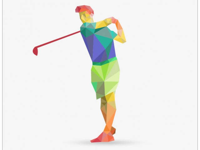 desenho-de-homem-jogando-golfe