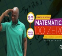 Aula ao vivo e gratuita de matemática sobre os principais assuntos do Enem