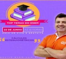 Top Temas do Enem: aula ao vivo, gratuita e online sobre cálculos estequiométricos