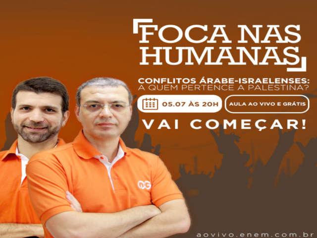 """Aula Ao Vivo E Gratuita Sobre O """"Conflito Árabe-Israelenses: A ..."""