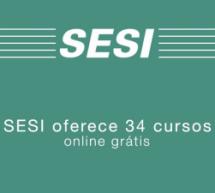 SESI oferece 34 cursos online grátis