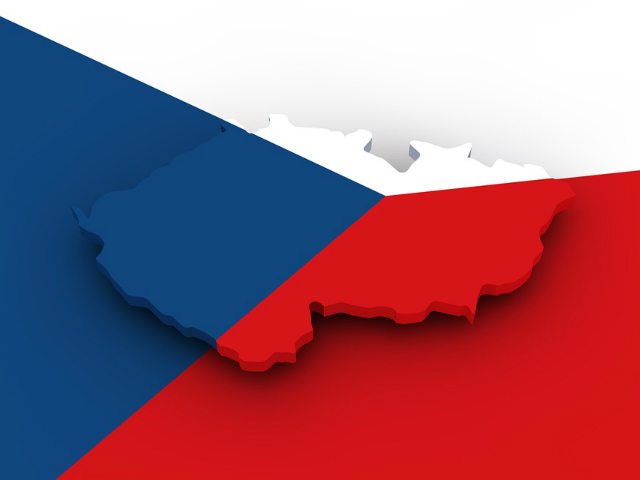 bandeira-e-mapa-da-republica-tcheca