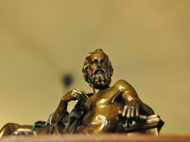 escultura-de-platao-em-bronze
