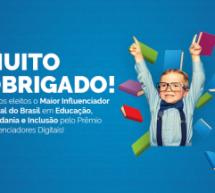 Canal do Ensino conquista prêmio de influenciadores digitais