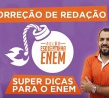 Aula ao vivo e gratuita de redação com dicas para o ENEM