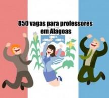 Abertas 850 vagas para professores em Alagoas