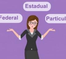 Qual a diferença da universidade federal, estadual e particular?