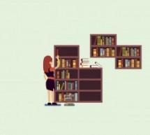Como organizar a sua estante de livros?
