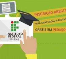 IFSP abre inscrição para graduação a distância grátis em Pedagogia