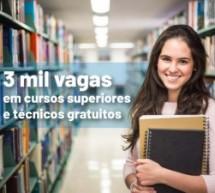 IFNMG abre inscrições para 3 mil vagas em cursos superiores e técnicos gratuitos