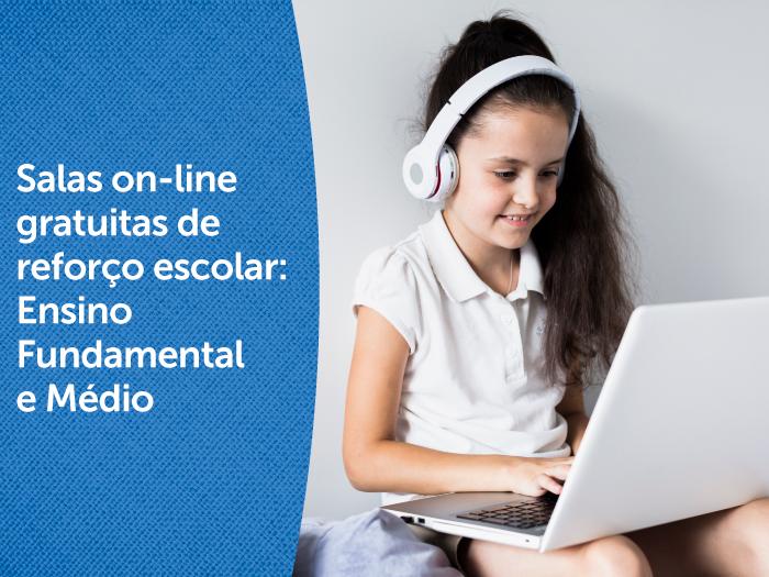 Projeto oferece salas on-line de reforço para alunos do Ensino Fundamental e Médio