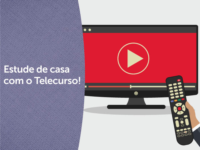 Telecurso disponibiliza aulas no YouTube e na TV