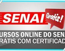 SENAI libera Cursos on-line Gratuitos com Certificado Grátis